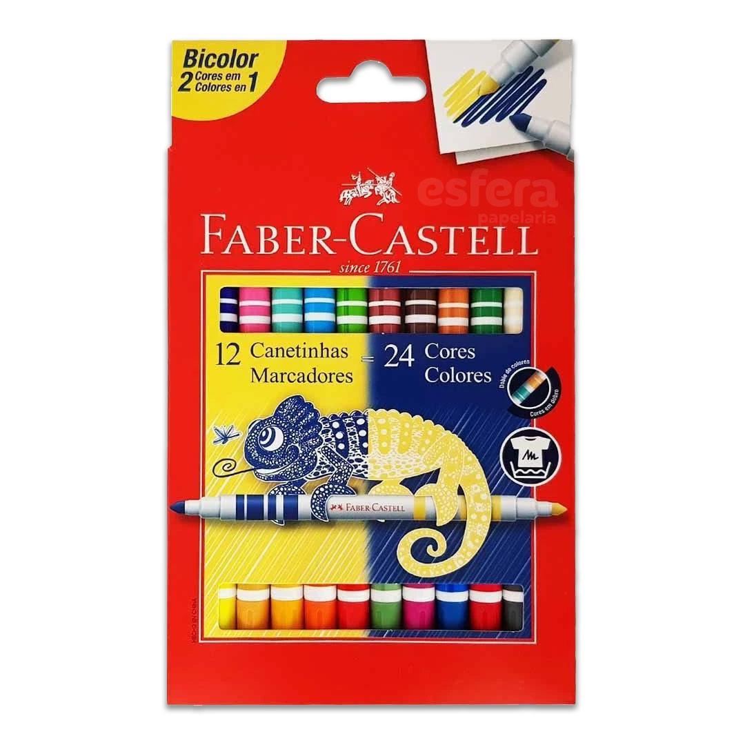 CANETINHA BICOLOR 12 CANETAS/24 CORES 15.0612N FABER-CASTELL