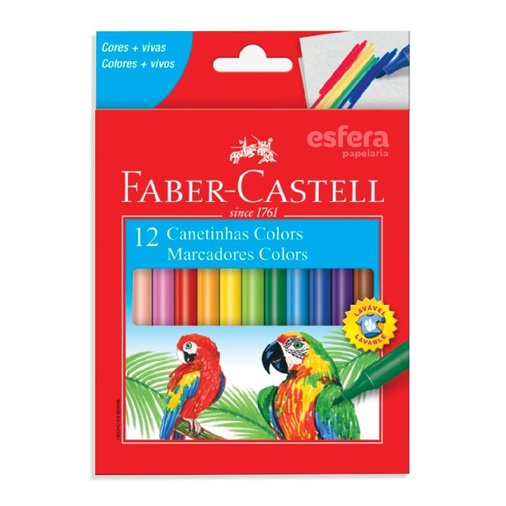 CANETINHA COLORS 12 CORES 15.0112CZF FABER-CASTELL