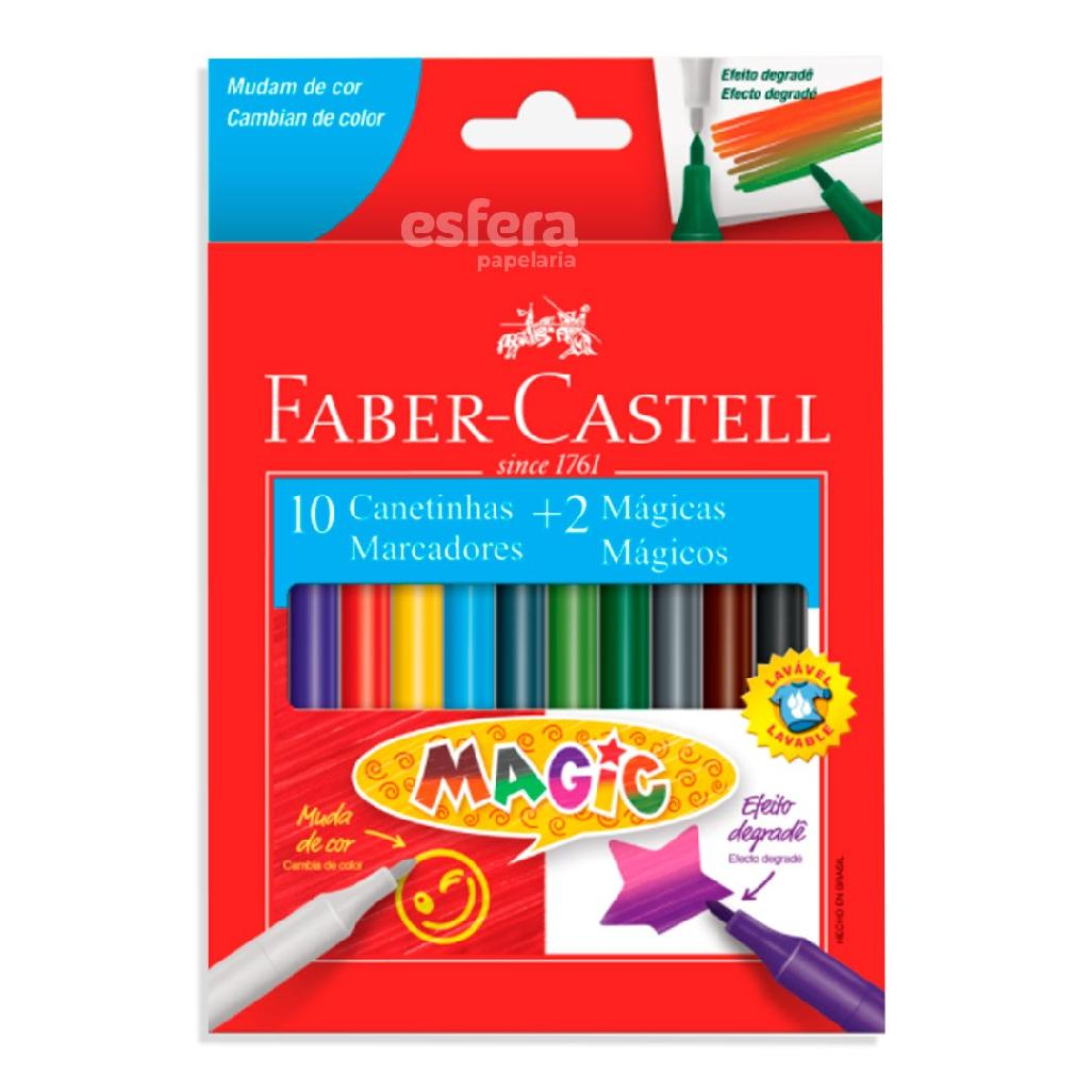 CANETINHA MAGIC 10 CORES + 2 15.0112MZF FABER-CASTELL