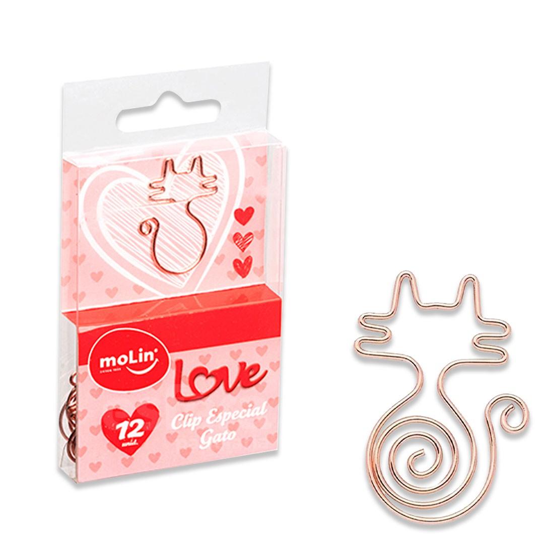 CLIPS ESPECIAL LOVE GATO COM 12 UNIDADES 23101 MOLIN