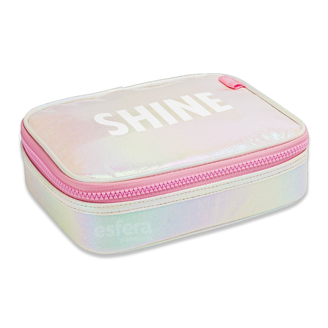 ESTOJO BOX ACADEMIE SHINE ROSA 312231 TILIBRA