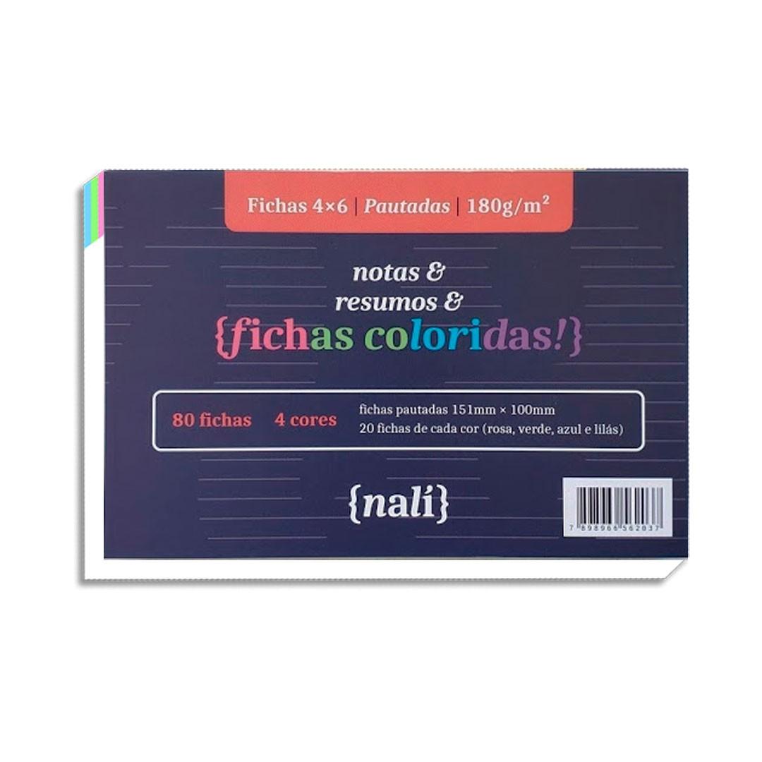 FICHAS NALI 4X6 120G COM 80 FOLHAS