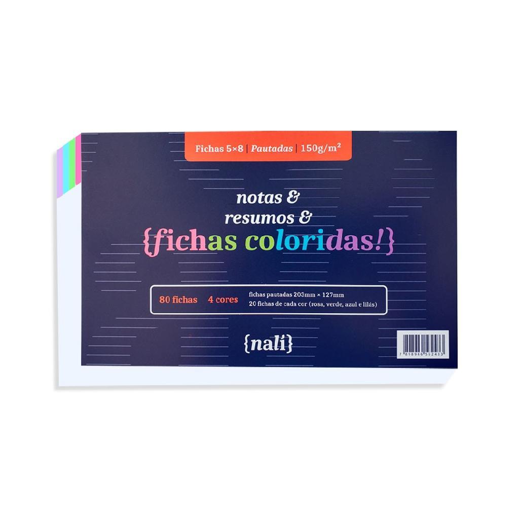 FICHAS NALI 5X8 150G COM 80 FOLHAS
