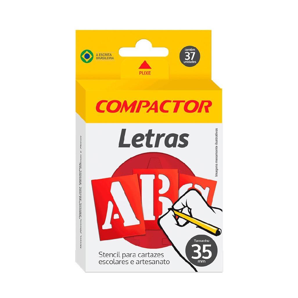 GABARITO DE LETRAS ABC 35MM COMPACTOR