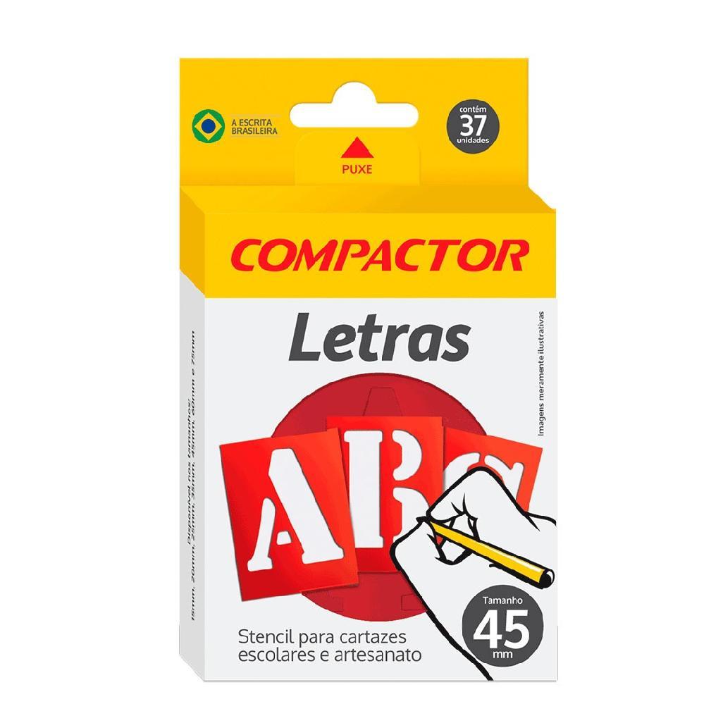 GABARITO DE LETRAS ABC 45MM COMPACTOR