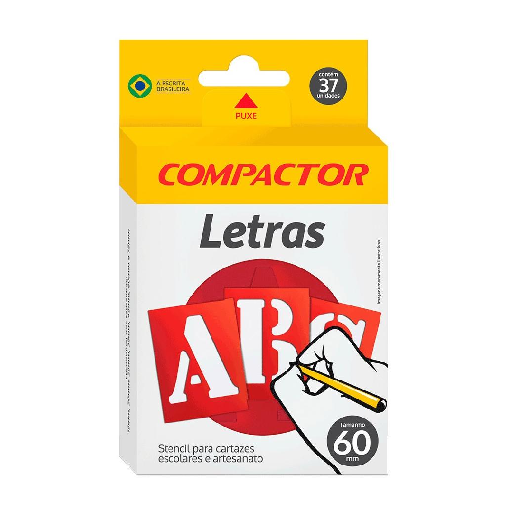 GABARITO DE LETRAS ABC 60MM COMPACTOR