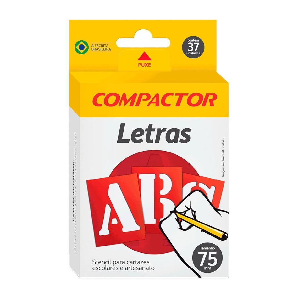GABARITO DE LETRAS ABC 75MM COMPACTOR