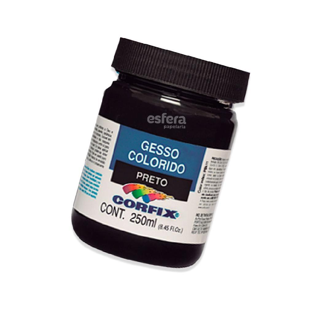 GESSO COLORIDO PRETO 250ML CORFIX