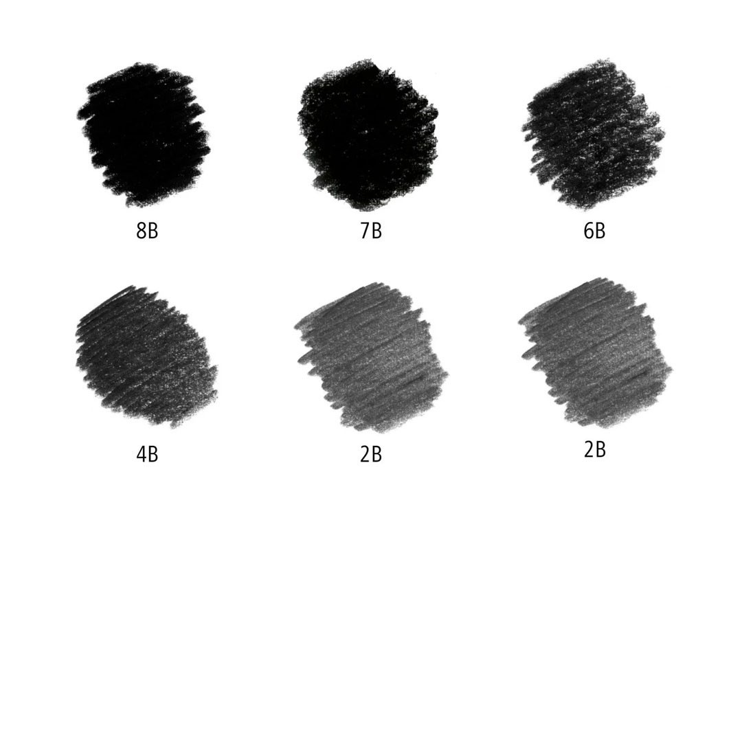 LAPIS LUMOGRAPH BLACK ESTOJO DE METAL COM 6 UNIDADES 8B A 2B STAEDTLER