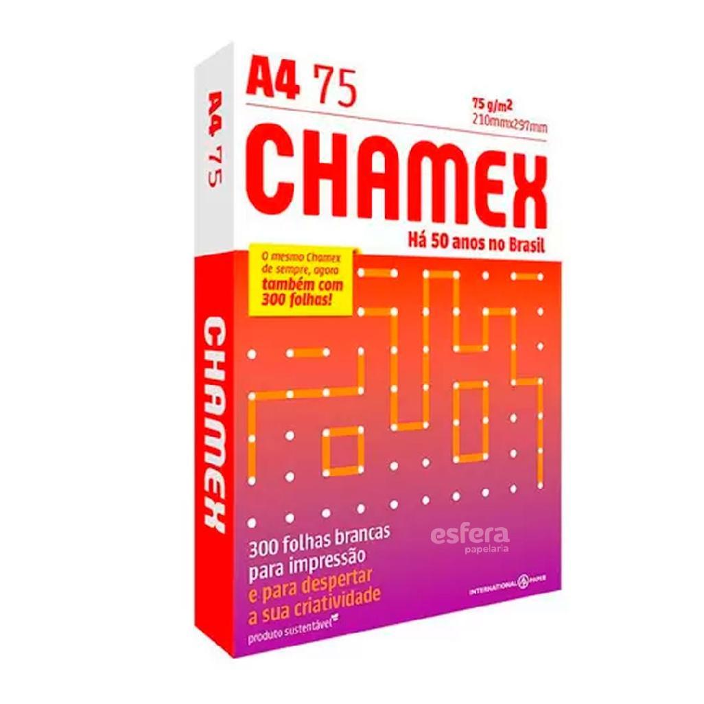 PAPEL A4 CHAMEX 75GRS 210X297MM COM 300 FOLHAS