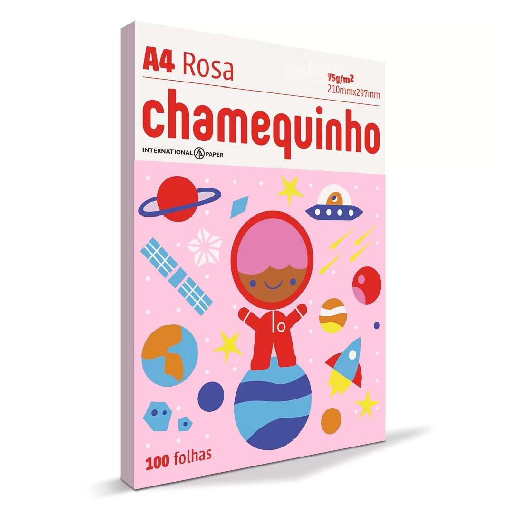 PAPEL CHAMEQUINHO A4 75GRS 100 FOLHAS CHAMEX