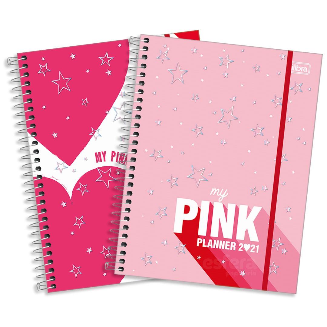 PLANNER ESPIRAL LOVE PINK M7 291013 TILIBRA