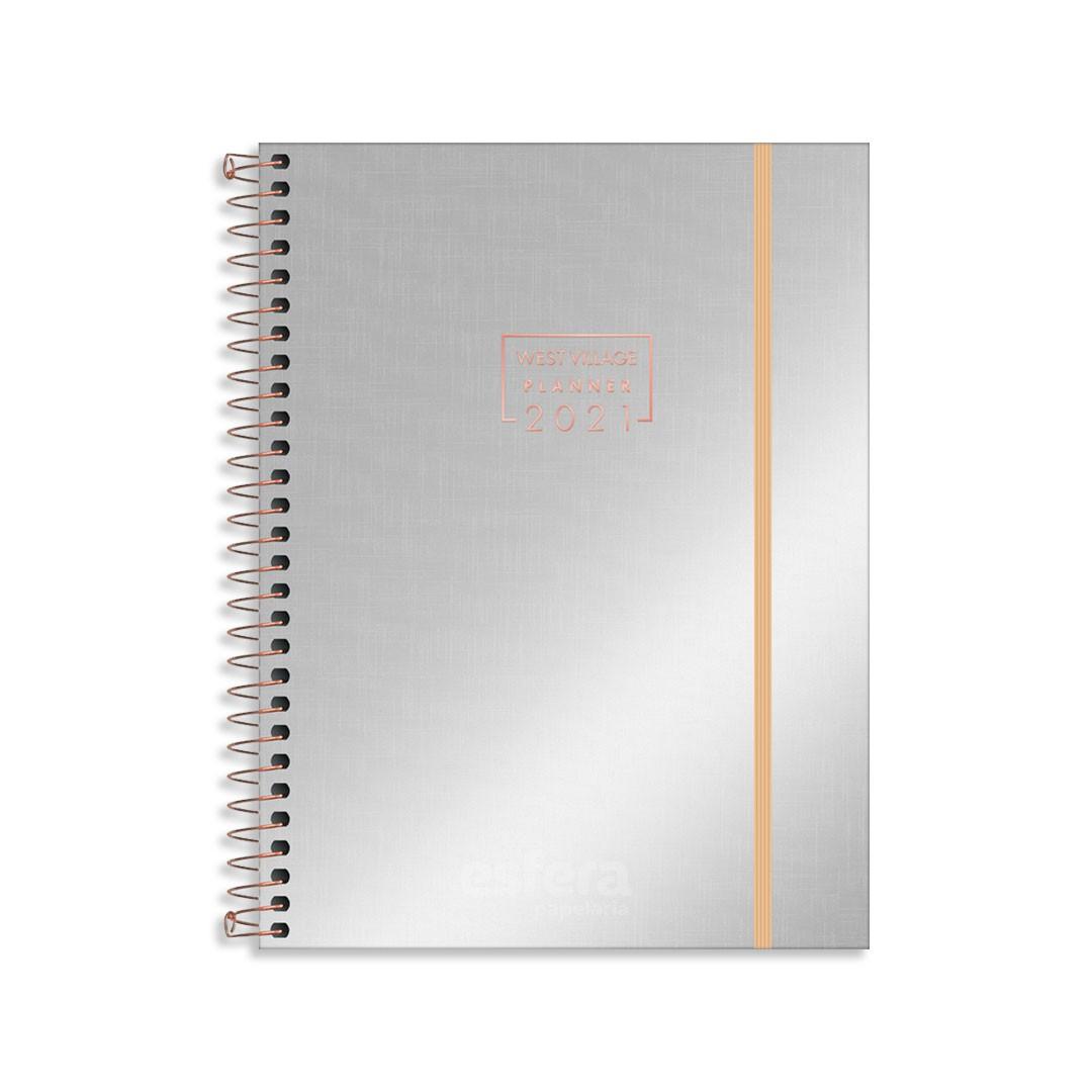 PLANNER ESPIRAL WEST VILLAGE METALIZADO M7 314307 TILIBRA