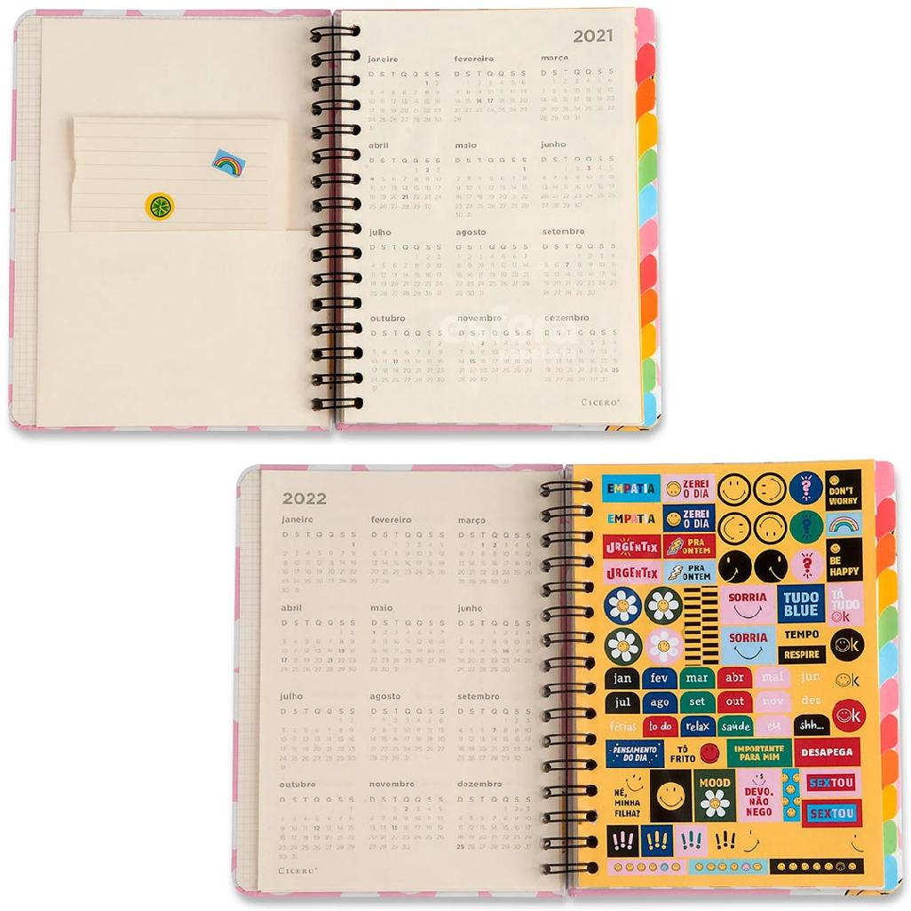 PLANNER SEMANAL A5 WIRE-O SMILEY MARGARIDA ROSA CICERO