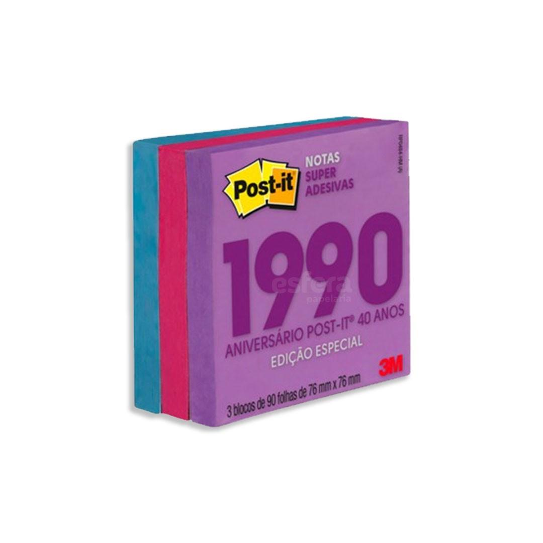 POST-IT® 76X76MM NOTAS SUPER ADESIVAS COLEÇÃO 40 ANOS 3M