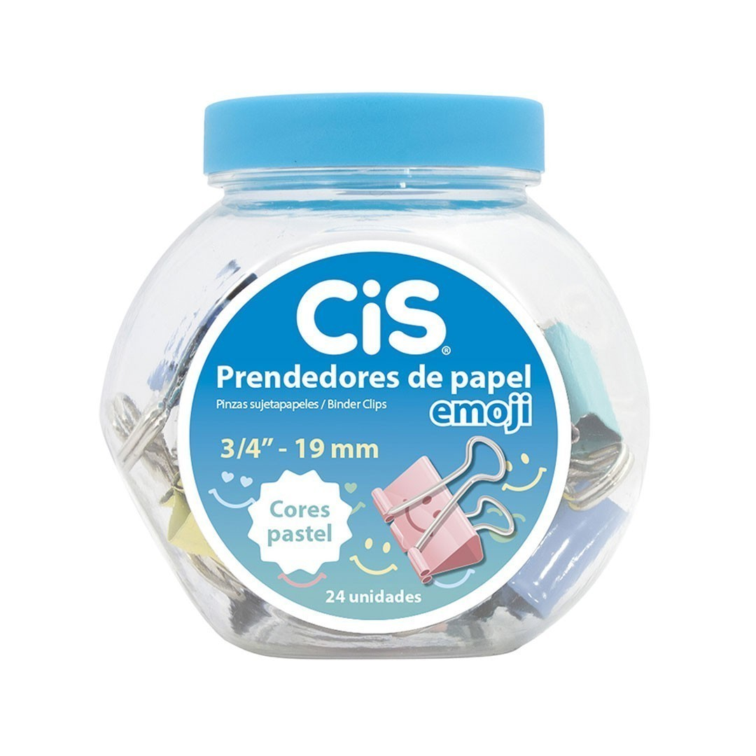 PRENDEDOR DE PAPEL 19MM EMOJI CIS