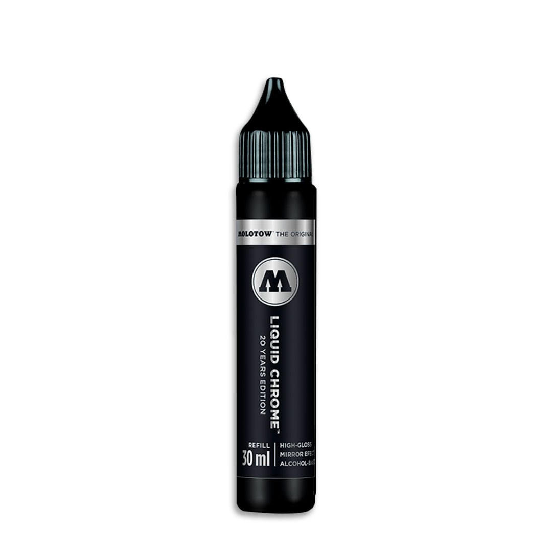 REFIL DE MARCADOR ARTISTICO PERMANENTE LIQUID CHROME 30ML MOLOTOW