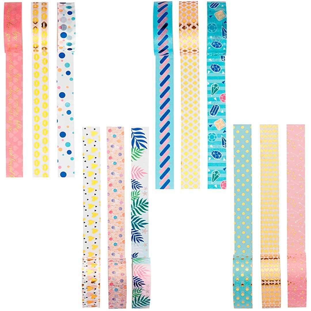 WASHI TAPE LOVE COM 3 UNIDADES MOLIN