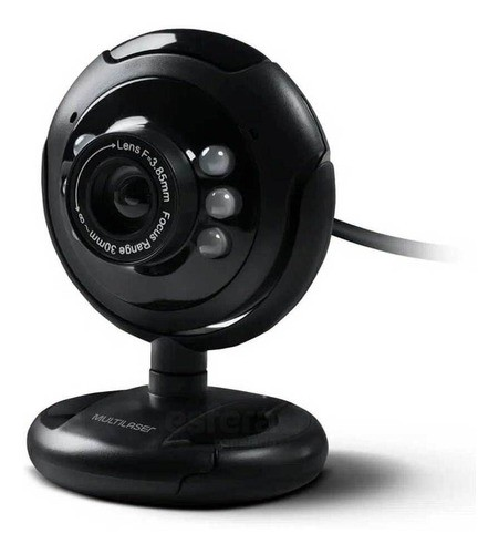 WEBCAM NIGHTVISION 16MP USB COM MICROFONE PRETO WC045 MULTILASER