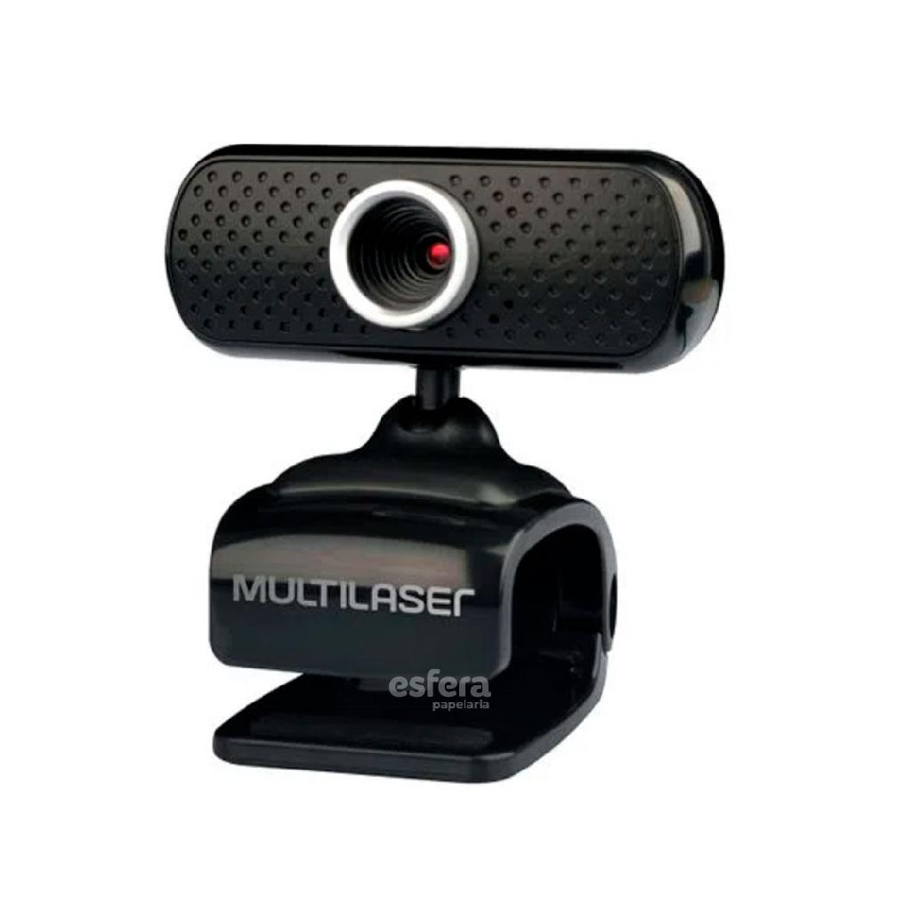 WEBCAM PLUG AND PLAY MIC USB 480P PRETO WC051 MULTILASER