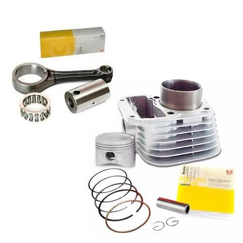 Kit Cilindro + Biela Motor Titan Fan 125 2002 até 2008 Metal Leve