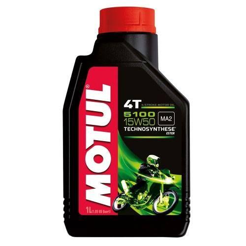 Óleo Motul 5100 15w50 Semi-sintético 4t Ester 1 Litro