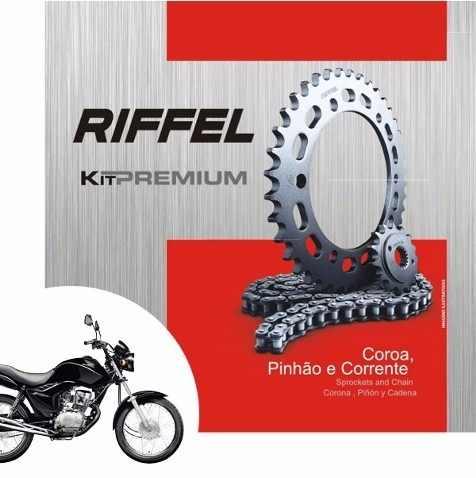 Kit Tração Relação Transmissão Fan Titan 125 2009 em diante Riffel