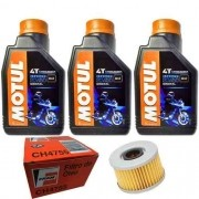 Kit Troca Oleo + Filtro Fram Ch4755  Cb 400 450 Motul 3000 20w50 Mineral