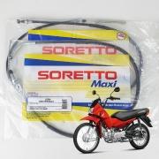 Cabo de Embreagem + Cabo de Freio POP 100 2006até2015 Soretto Maxi