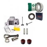 Cilindro Motor Biela Rolamentos Virabrequim Cg Titan 150 Fan