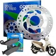 Disco de Freio Dianteiro Biz 125 + Pastilha Cobreq Original