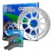Disco de Freio Dianteiro Bros 150 Todas + Pastilha Cobreq