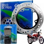 Disco de Freio Dianteiro CBX 200 Strada + Pastilha Cobreq