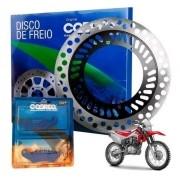 Disco de Freio Dianteiro CRF 230 + Pastilha Cobreq Original