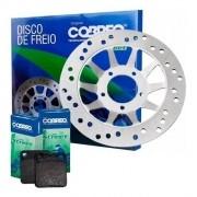 Disco de Freio Dianteiro Titan 125 2000/2004 + Pastilha Cobreq