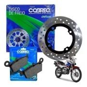 Disco de Freio Falcon NX 400 Traseiro + Pastilha Cobreq