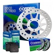 Disco de Freio Titan 125 2000-2004 + Pastilha + Lona Cobreq