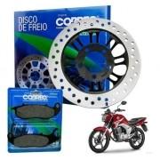Disco de Freio Titan 150 Fan 150 CG 2009 em diante + Pastilha de Freio Cobreq