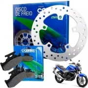 Disco de Freio Traseiro Fazer 250 + Pastilha de Freio Cobreq