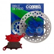 Disco de Freio Traseiro XRE 300 + Pastilha Com ABS Cobreq
