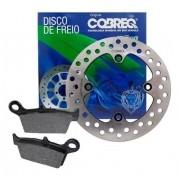 Disco de Freio Traseiro XRE 300 + Pastilha Sem ABS Cobreq