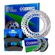 Disco de Freio Twister 250 CBX + Pastilhas + Lona Cobreq