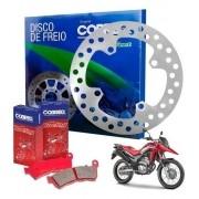 Disco Freio Dianteira Xre 300 Xre300 Com Abs + Pastilha Cobreq