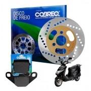 Disco Freio Dianteiro Burgman 125 Carburada + Pastilha Cobreq