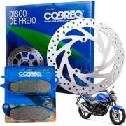 Disco Freio Dianteiro Fazer 250 2016-2017 + Pastilha Cobreq