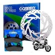 Disco Freio Dianteiro Fazer 250 até 2015 + Pastilha Cobreq