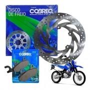 Disco Freio Dianteiro Lander 250 até 2015 + Pastilhas Cobreq