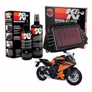 Filtro Ar K&n CBR 650F CBR650F 650 F Esportivo + Kit Limpeza