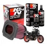 Filtro Ar K&n MT-07 MT07 Esportivo Lavável + Kit de Limpeza