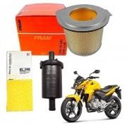 Filtro de Ar Fram CB 300 Gasolina + Filtro Combustível Mahle Original